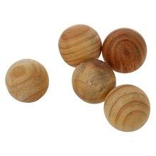 Натуральный репеллент от насекомых моль-защита камфора деревянный шар 5 шт