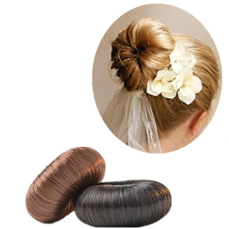 1 pc rede nova popular diy estilo de cabelo anel donut cabelo natural scrunchie feminino cabelo trança acessórios moda
