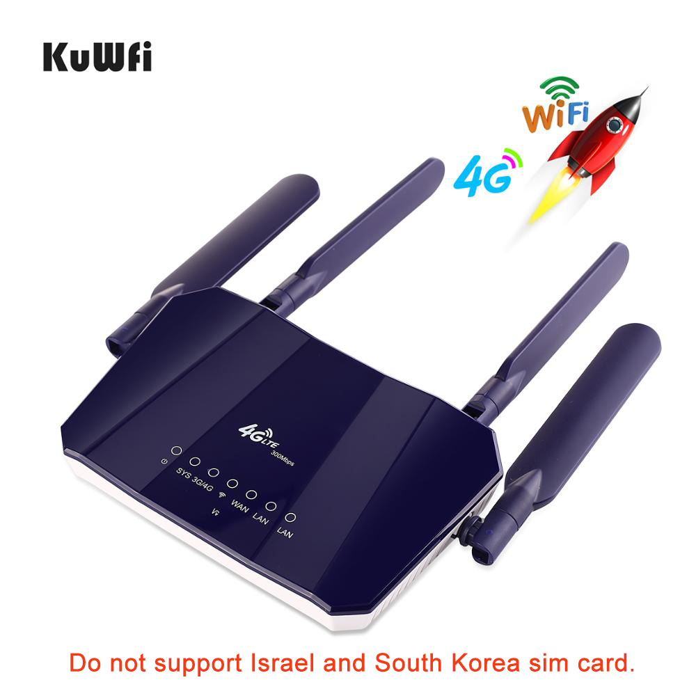 Image 5 - KuWFi 4G LTE CPE WiFi роутер 300Mbp беспроводной CPE мобильный WiFi роутер с слотом для sim карты с хорошим покрытием для ПК/телефона/ТВ бокса-in 3G/4G маршрутизаторы from Компьютер и офис on AliExpress - 11.11_Double 11_Singles' Day