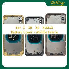 Задняя крышка для iphone x / xs xr xsmax задняя батарейного