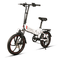 20 Inch Folding Electric Bike Power Assist Electric Bicycle E Bike Scooter 350W Motor Conjoined Rim