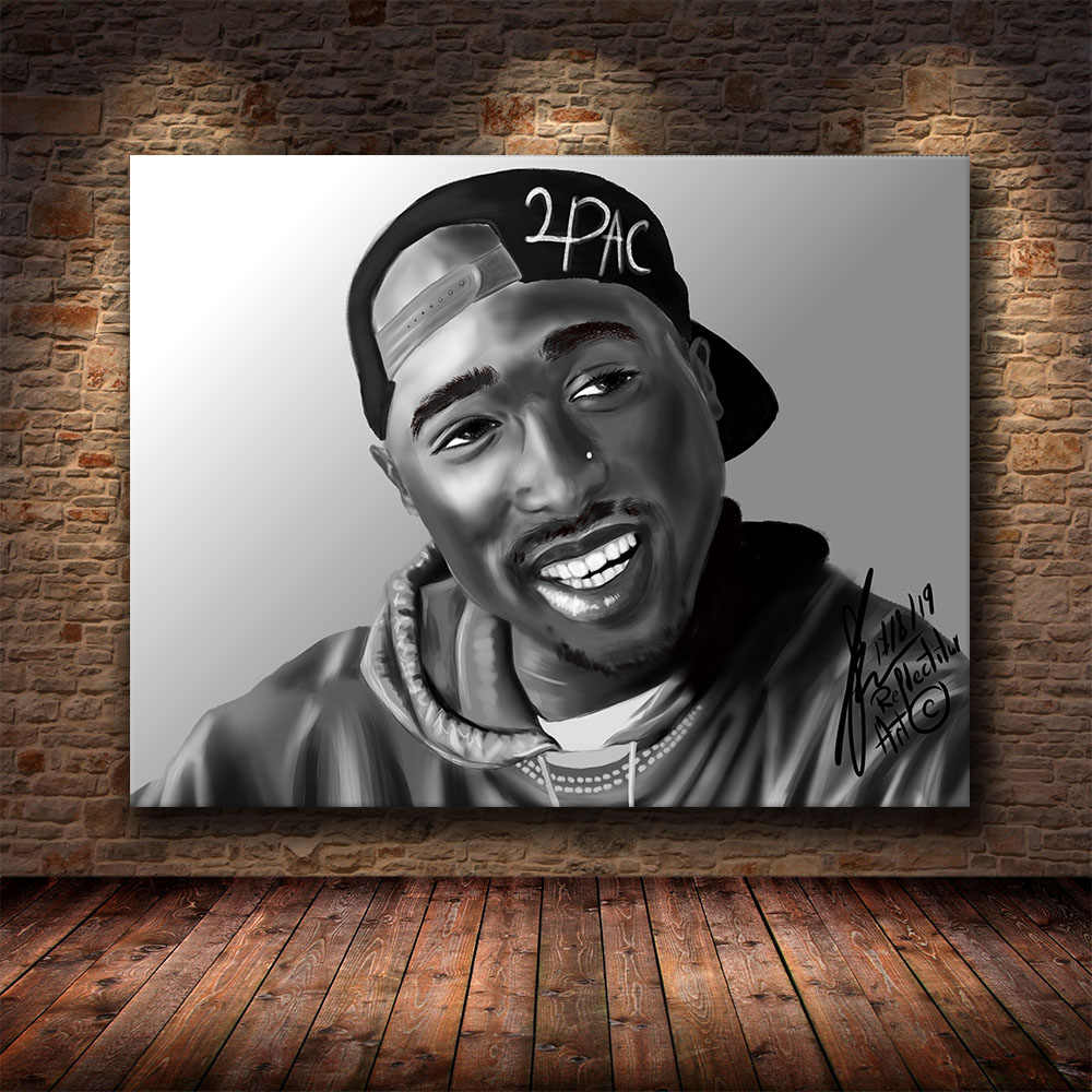 2Pac Tupac Poster Wall Art Picture Unframed Canvas Painting Decoration 24X36inch