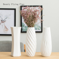 2Pcs Direct sales new products floor ceramic large vase small fresh decorations full of stars rich bamboo living room decoration