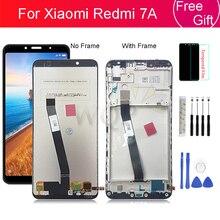 """ل شاومي Redmi 7A LCD عرض مع الإطار شاشة لوحة محول الأرقام الجمعية استبدال إصلاح أجزاء 5.45"""""""
