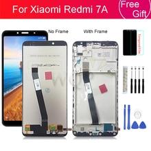 ЖК дисплей с рамкой для Xiaomi Redmi 7A, дигитайзер в сборе, запасные части, 5,45 дюйма