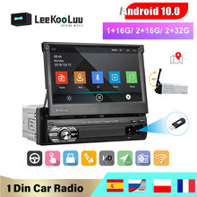 LeeKooLuu Android 10.1 1din Quad-Core Car GPS Navigation Player 7'' Car Radio WiFi Bluetooth MP5 1 DIN Multimedia Player no DVD