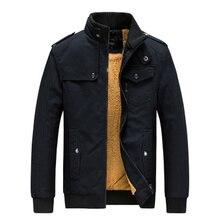2019 Men Stand collar Jacket and Coat Trendy Warm