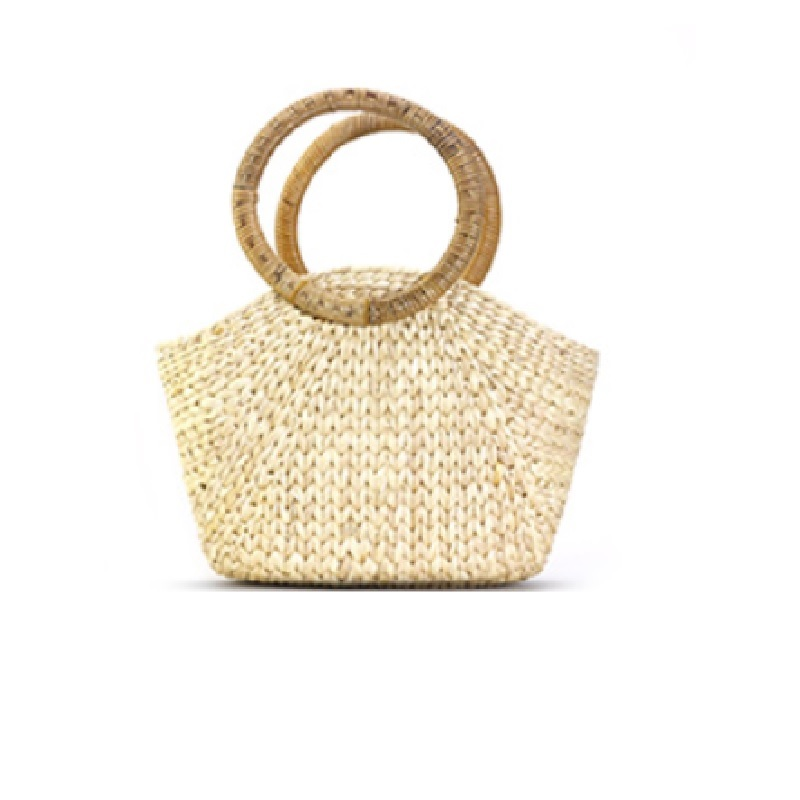 Summer Handmade Bags Women Circle Ring Large Big Beach Ladies Straw Bag