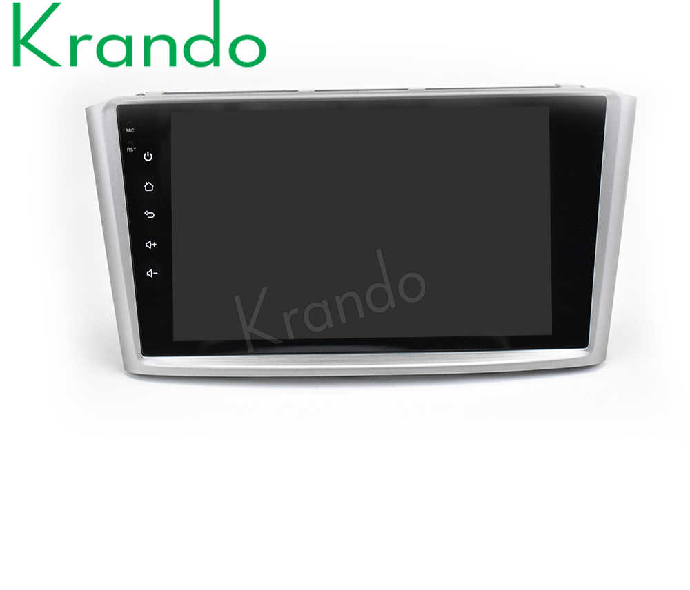 "Krando Android 8.1 9 ""Big Screen Auto Multimedia Systeem Radio Gps Voor Toyota Avensis 2003-2007 Stereo navigatie Bt Wifi"