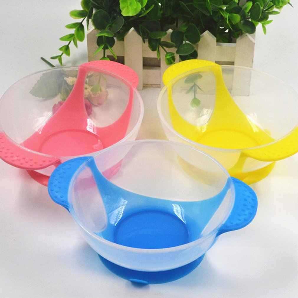 Asli Bayi Penginderaan Suhu Peralatan Makan Safety Lembut Feeding Sendok Garpu Bayi Anak-anak Anak Makan Peralatan Makan