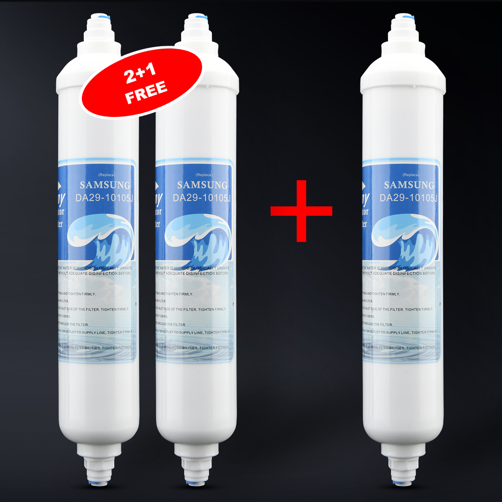 Replaceable external refrigerator water filter compatible with GE GXRTDR, Samsung DA29-10105J, LG 5231JA2010B / C (2+1Free)