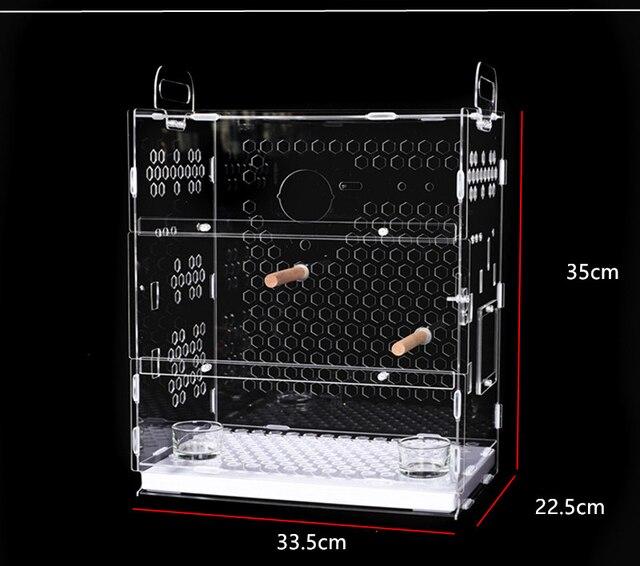 Transparent Parrot Cage 2
