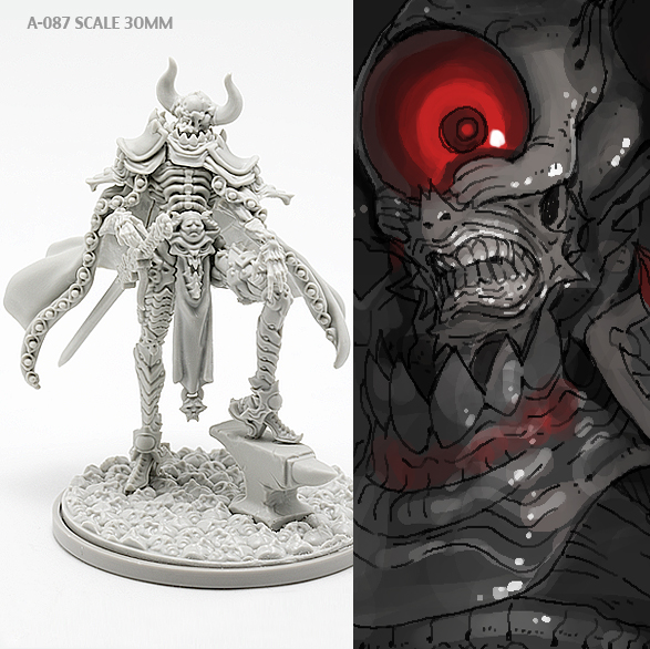 40mm Resin Kits Model  KD Spiritual Devil  Self-assembled A-087