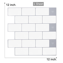 3D Wall Tile Peel and Stick Wall Tile Self Adhesive Mosaic Wall Vinyl Tile White Glass Subway Tile Backsplash Kitchen Wall Tile clear crystal glass backsplash carved flower resin tile kitchen bathroom shower home wall 3d sticker border diy wall tile lsrn10