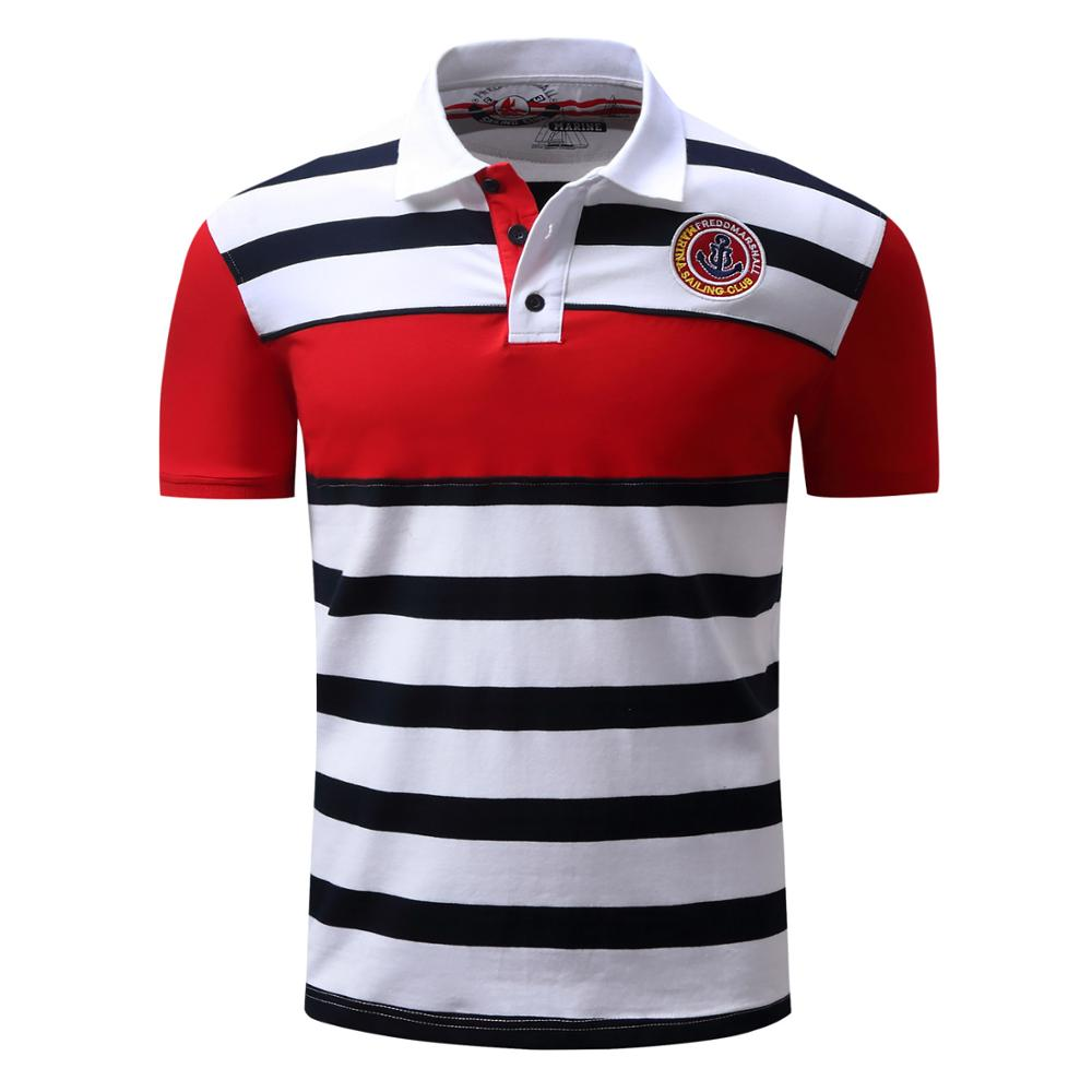 Brand New Men's Polo Shirts 2020 Summer Luxury Embroidery Polos Quick-dry Masculina Soft Striped Cotton Golf Shirts