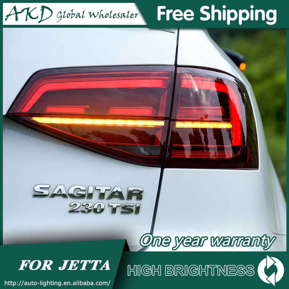 Задний фонарь для автомобиля VW Jetta 2015 2018 Jetta Mk6 задние фары светодиодные противотуманные фары DRL дневные ходовые огни тюнинг автомобильные ак