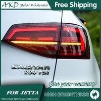 Tail Lamp For Car VW Jetta 2015 2018 Jetta Mk6 Tail Lights Led Fog Lights DRL Daytime Running Lights Tuning Car Accessories