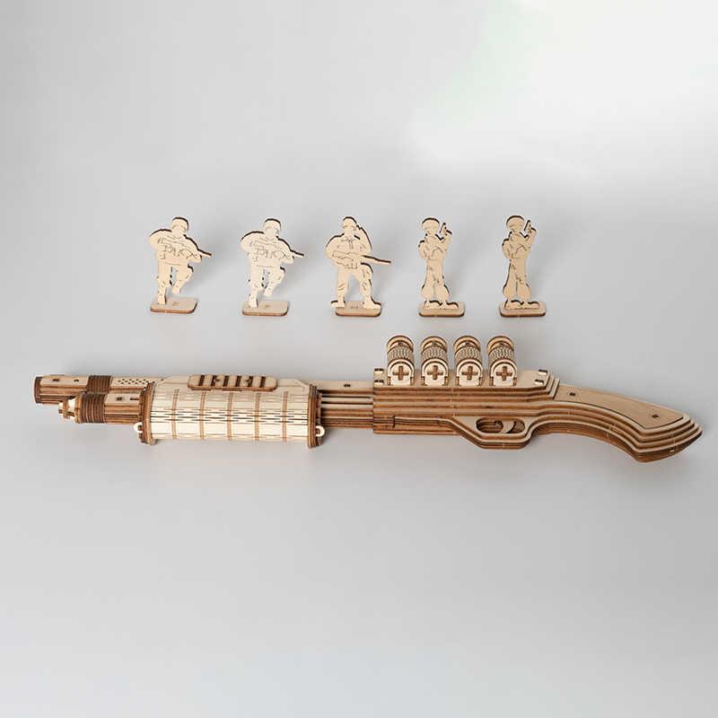 Robotime 172 stücke DIY 3D Streuen mit Gummi Band Kugel Holz Pistole Puzzle Spiel Beliebte Spielzeug Geschenk für Kinder Erwachsene LQ501