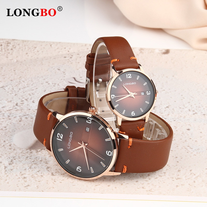 High Quality 2020 Hot Sale Fashion Fashion Women Mens Watch Analog Casual Brown Leather Strap Couple Watches Gift