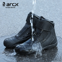 1pair ARCX Motorcycle Boots Off road Racing Cowhide Leather Waterpoof Reflective Boots Racing Leather Ankle Breathable Shoes