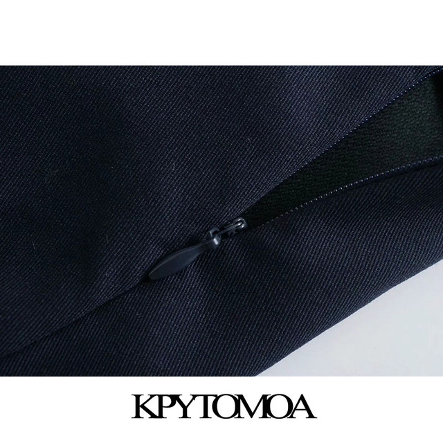 KPYTOMOA Women 2021 Chic Fashion With Metal Buttoned Bermuda Shorts Vintage High Waist Side Zipper Female Short Pants Mujer 5