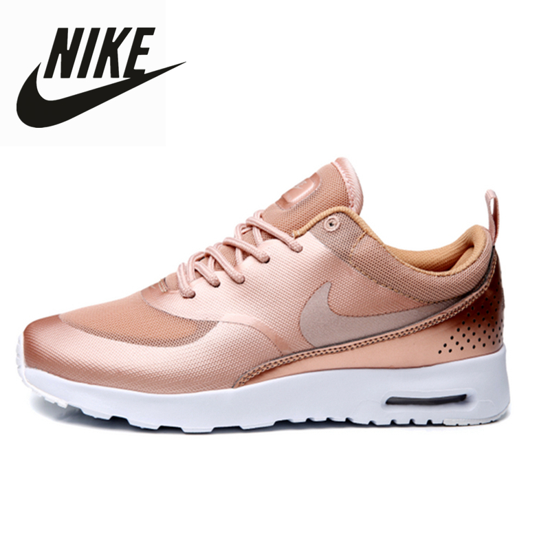 US $50.6 45% OFF|NIKE AIR MAX THEA 87 Ladies Mesh Breathable Women Running Shoes Rose Gold Size 36 39 on AliExpress