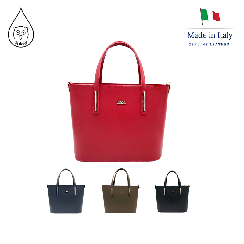 JUICE ,made In Italy, Genuine Leather, Women Bag,handbag/cross Body,addition Long Shoulder Strap 112186