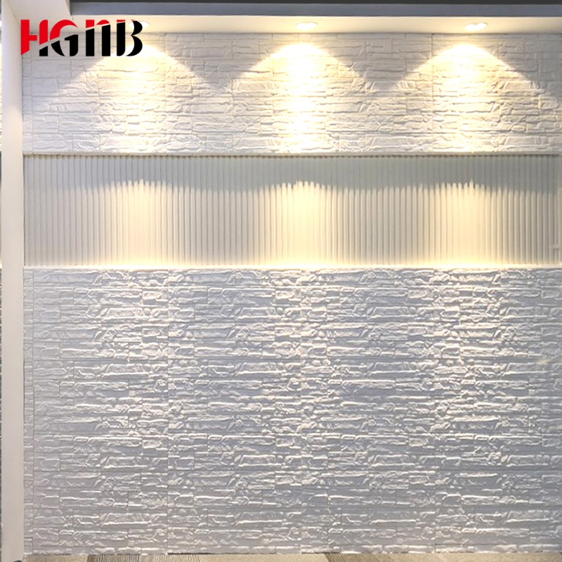 Hot Sale PE Foam 3D Wallpaper DIY Wall Stickers Wall Decor Embossed Brick Stone Wallpaper Room House 70X70cm Poster