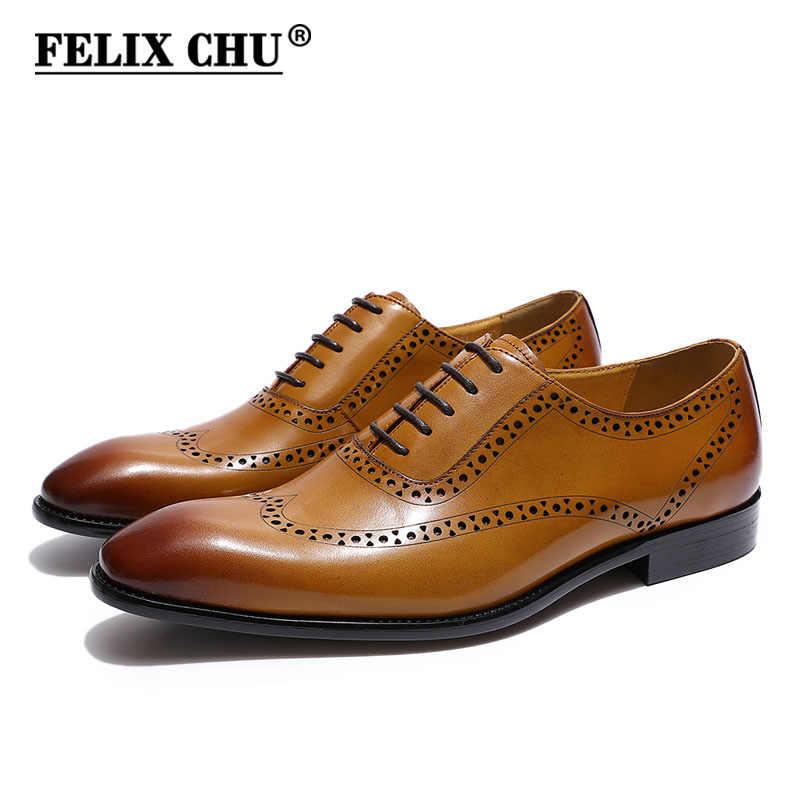 FELIX CHU Classic Men's Brogue Wingtip