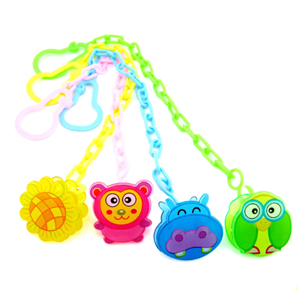 Baby Feeding Anti Lost Chain Baby Soothers Pacifier Chain Nipple Clip Animal Cartoon Baby Pacifier Clip Dummy Holder