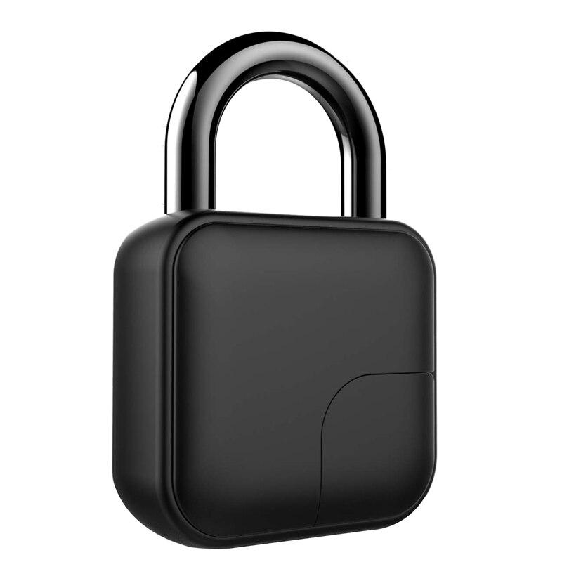 FFYY Smart Biometric Fingerprint Padlock Rechargeable Cable Padlock for Office Backpack Locker Golf Bags Handbags|  - title=