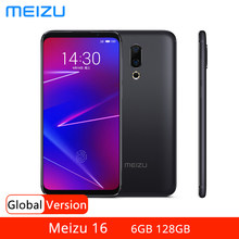 Versão global meizu 16 6gb 64gb 128gb smartphone snapdragon 710 telefone móvel 20mp câmera dupla 6.0