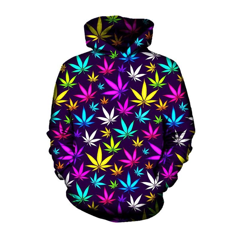Latest popular weed leaves for men and women 3d printed hoodies 3D sweatshirts hoodies fall/winter sportswear