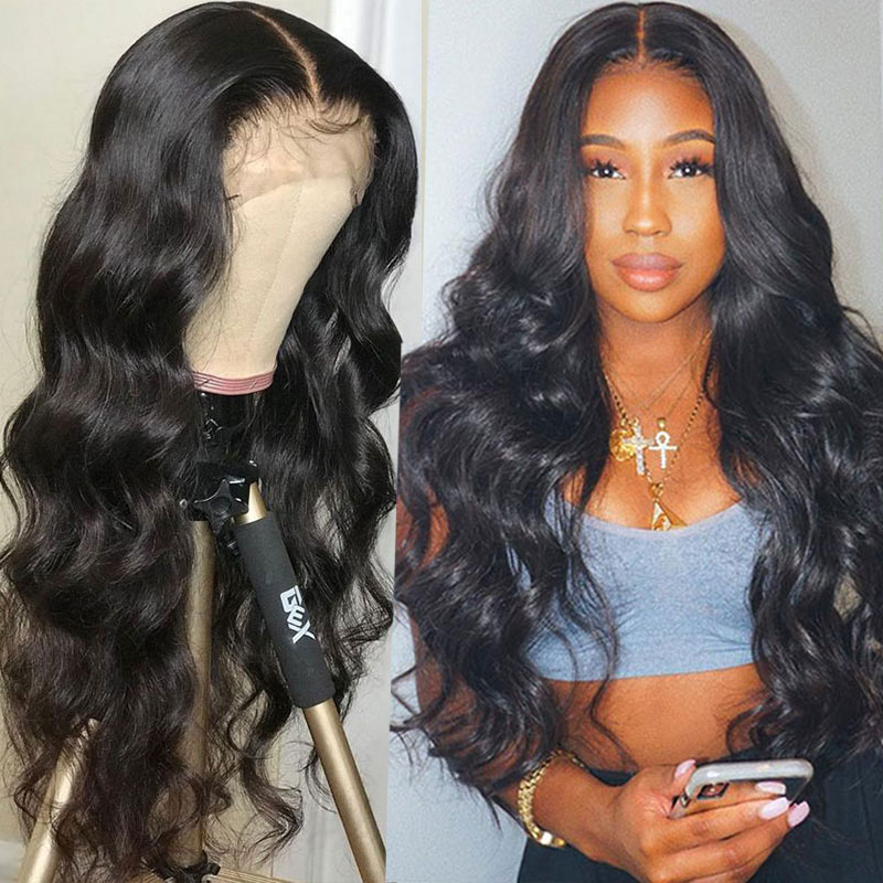 250 Density Pre Plucked Full Lace Human Hair Wigs For Women Brazilian HD Transparent 30 Inch Full Lace Wig Body Wave Fake Scalp