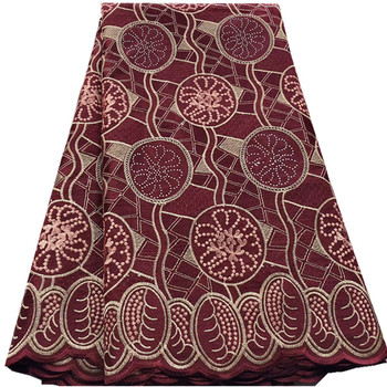 High Quality Dry Cotton Lace Fabric 2019 Latest Swiss Voile African Stones Swiss Voile Lace In Switzerland For Dresses hs65-3042