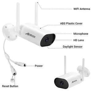 ANRAN 5MP Kamera System Security Surveillance Kamera Kit 13-zoll Wireless Monitor NVR System Outdoor Wifi Audio CCTV Kamera kit