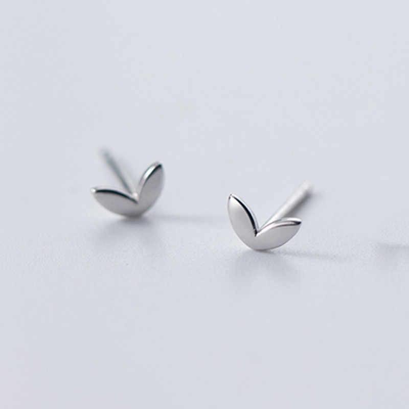 Inzatt Nyata 925 Sterling Silver Minimalis Jantung Stud Anting-Anting untuk Fashion Wanita Pesta Lucu Fine Perhiasan Aksesoris Hadiah