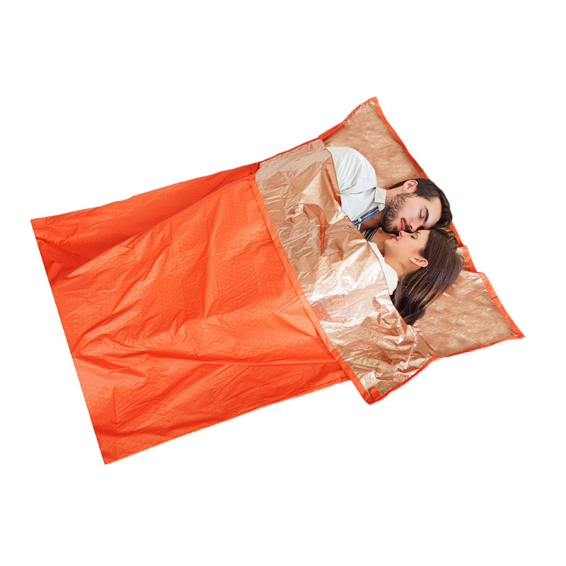 Ji Rock Mountain Climbing Camping Heat Reflective Insulated Sleeping Bag Outdoor Camping Adventure Emergency Survival Blanket In