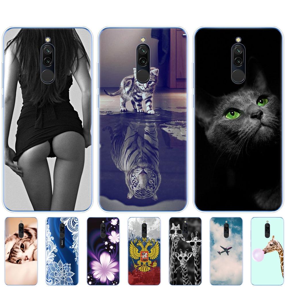 Чехол для xiaomi redmi 8, чехол s, силиконовая Мягкая задняя крышка из ТПУ для redmi 8, бампер hongmi 8, чехол, кожа, противоударный, милый кот