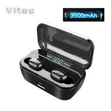 G6s Bluetooth Earphones TWS Wireless 5.0 Handsfree Earphone Sports Bass Earbuds Waterproof Headset with mic 3500mAh charging box