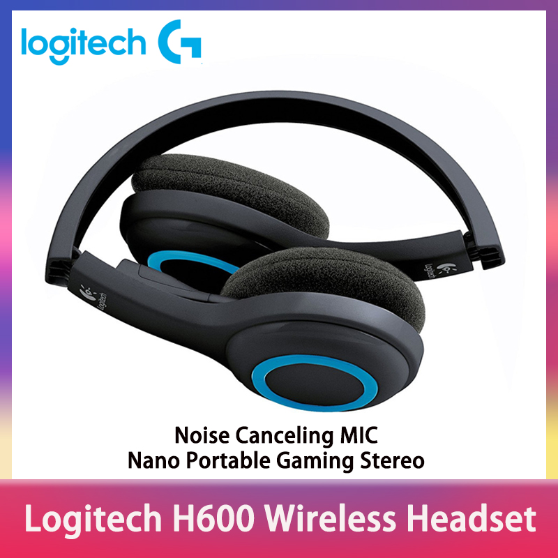 Logitech H600 Wireless Headset With Noise Canceling Mic Nano Portable Gaming Stereo Headphones With Microphone For Pc Win Mac Os Bluetooth Earphones Headphones Aliexpress
