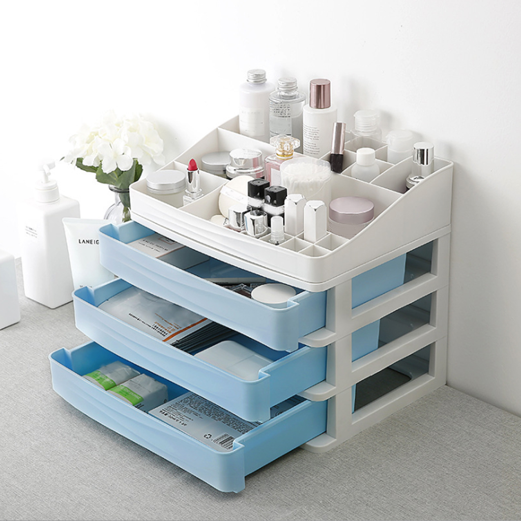 Plastic Box Large Capacity Storage Box Drawer Makeup Cosmetic Organizer Box House Phone Sundries Care Rack Dropshipping