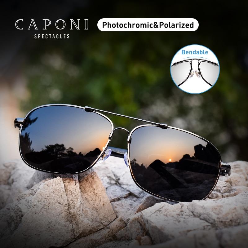 CAPONI Vintage Sunglasses Polarized Men Women Luxury Brand Designer Driving Eye Glasses Square Fashion Sun Glasses UV400 CP10001-in Men's Sunglasses from Apparel Accessories