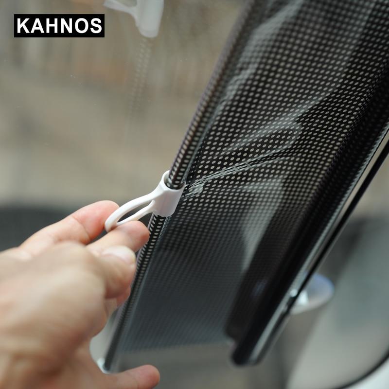 Универсальный выдвижной козырек для лобового стекла автомобиля солнцезащитный козырек Авто Передняя Задняя сторона жалюзи солнечные оттенки анти УФ солнечные оттенки