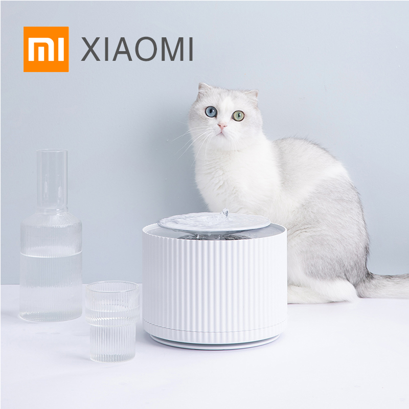 XIAOMI MIJIA Cat drinking machine Smart pet products Automatic water feeder Cat water fountain 24h Mute 360° cycle 1.8L capacity(China)