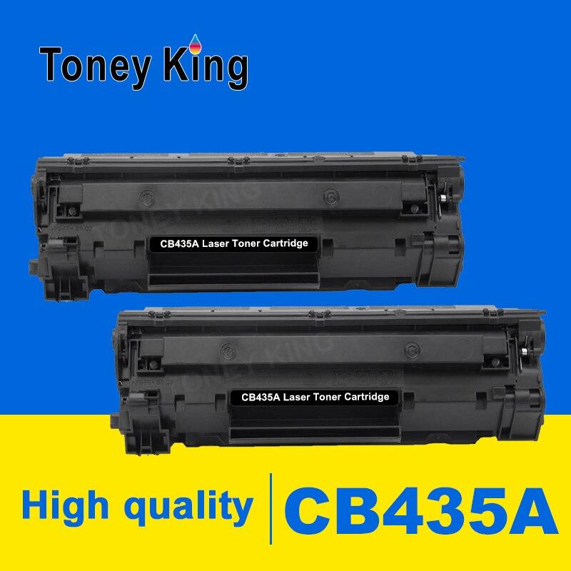 toney rei 2 pcs 435a compativel cartucho de toner cb435a 435a 435 35a para hp laserjet