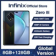 100% original infinix zero 8i versão global mobilephone 6.85 polegada 90hz helio g90t octa núcleo 8gb 128gb 33w carga super