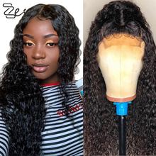 NoEnName_ Null Long Lace front Synthetic Hair Wigs Soft Black Curly Wig 26 Inch Cosplay PrePlucked High Ponytail Heat Resistatn cheap NoEnName_Null High Temperature Fiber Water Wave 230g 100g(+ -5g) piece 1 Piece Only Straight