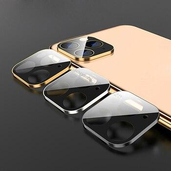 카메라 렌즈 풀 커버 보호 금속 링 + 강화 유리 케이스 iphone 11 pro xs max xr x 백 카메라 렌즈 보호 케이스