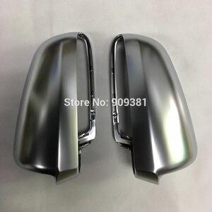 Image 3 - BODENLA Matt Chrome Mirror Cover Rearview Side Mirror Cap S Line For Audi Audi A4 B6 B7 A6 C6 (2003 2007) S4